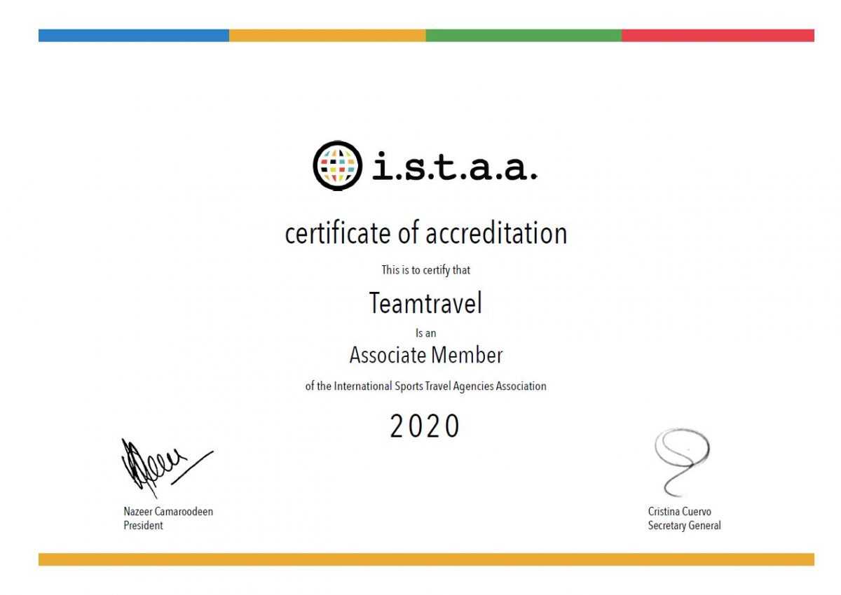 certificate teamtravel associate member of i.s.t.a.a.